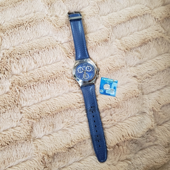Swatch Other - Swatch Irony Watch Blue Extra Battery 0251